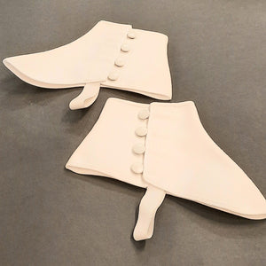 White Canvas Spats