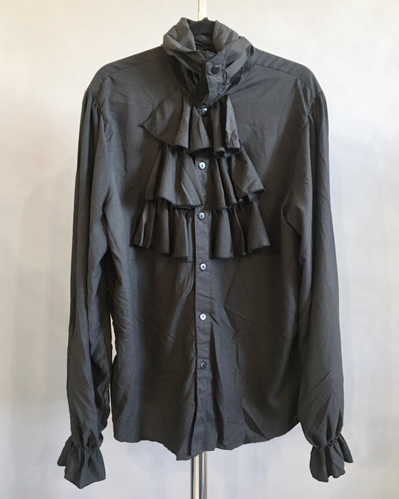 Black Ruffle Shirt