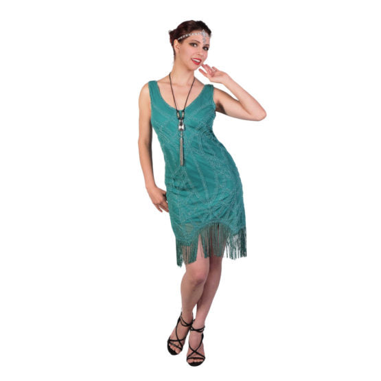 Jade Green Flapper Dress