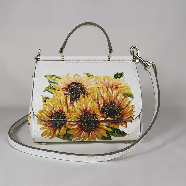 Women's handbags women's shoulder bags handbags leather women's messenger brand designer bottle sunflower white - Only Sunflowers