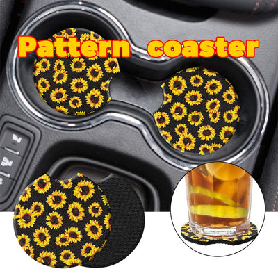 Sunflower Cup Mat Cute Colorful Button Cups Coaster Cup Cushion Holder Drink Cup Placemat Mat Pads Coffee Pad Car Drinks Holders - Only Sunflowers