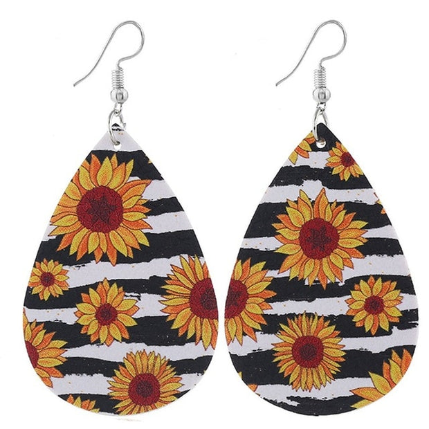 Fashion Sunflower Earrings Vintage Earring Women's Sets Bohemian Sunflower Earrings Diy Fashion Jewelry Accessories Gifts - Only Sunflowers