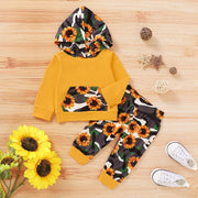 Winter 2020 Baby Girl Boys Clothes Infant Baby Boys Girls Camouflage Sunflower Print Hoodie Tops+pants Outfits Kids Clothes 2020 - Only Sunflowers