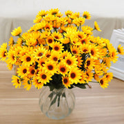 14 Heads Fake Artificial Sunflower Silk Flower Bouquet For Home Wedding Floral Decor DIY artificial flowers - Only Sunflowers