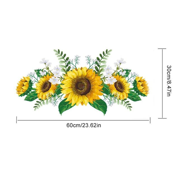 Sunflower Wall Sticker Refrigerator Cabinet Door Living Room Bedroom Home Decoration - Only Sunflowers