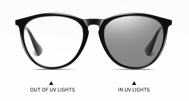 black stylish uni sex blue light glasses, sensitive to UV light