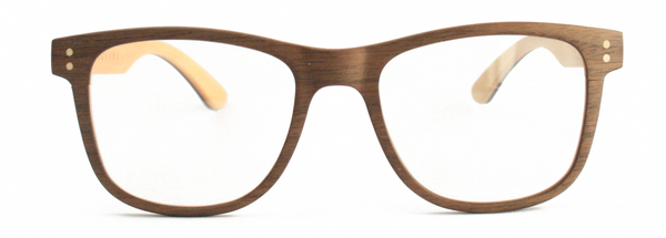 Uni-sex sophisticated wooden made blue light glasses