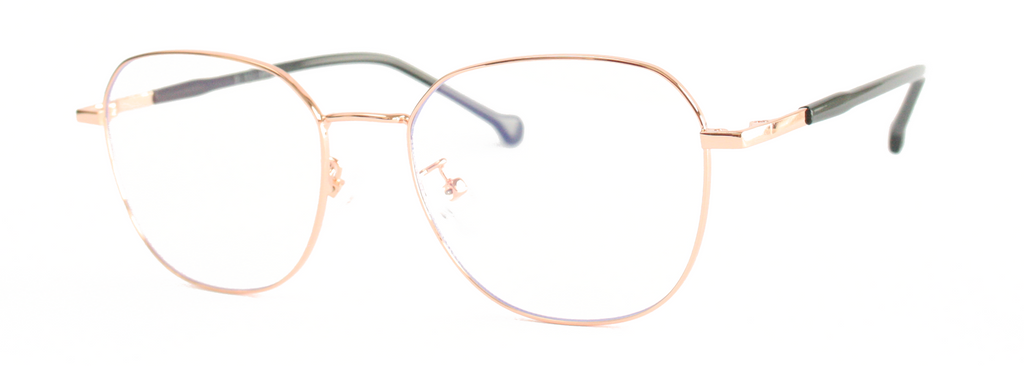 rose gold stylish and sophisticated blue light glasses