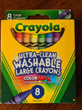 Ultra Clean Washable Large Crayola Crayons 8 count