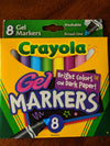 Gel Markers 8 Count Crayola