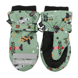 Ski Mittens - Black Bear - Green L