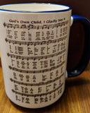 Baptism 15ox mug God's Own Child Hymn
