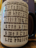 Baptism 15ox mug hymn text