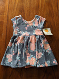 Swing Dress Blue Floral Design