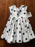 Swing Dress White with Crosses