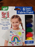 Kwik Stix Fabric Paint 6 Classic Colors