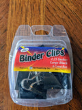 "Binder Clips 6 Count Package 1.25"" Clip"