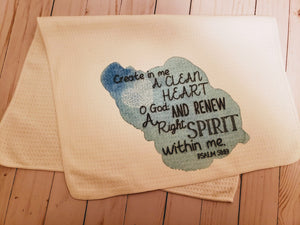 Create in me tea towel