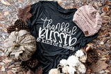 Thankful Blessed and Kind of a Mess unisex t-shirt