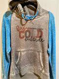 Baby it's really freaking cold outside - Women's Raglan Hoodie