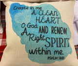 Create In Me -  Linen Pillow Cover