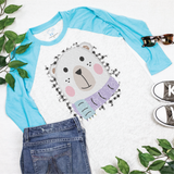 Winter Bear - Kids 3/4 Sleeve Raglan