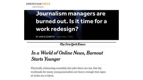 journalists are burnt out