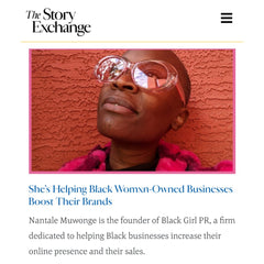 Black Girl PR feature in The Story Exchange