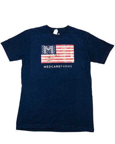 American Flag Crew Neck (Navy)