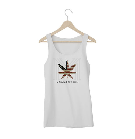 Womens Patriot Leaf Tank Top