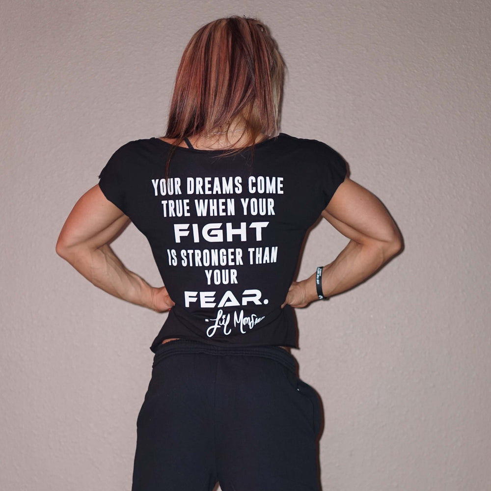 "Black Crop Top - ""Fight over Fear"" - Lil Monstar Edition"