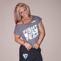 "Charcoal Crop Top - ""Fight over Fear"" - Lil Monstar Edition"