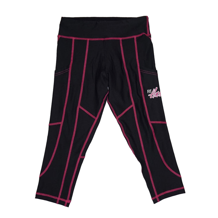 Black/Pink Legging Crops