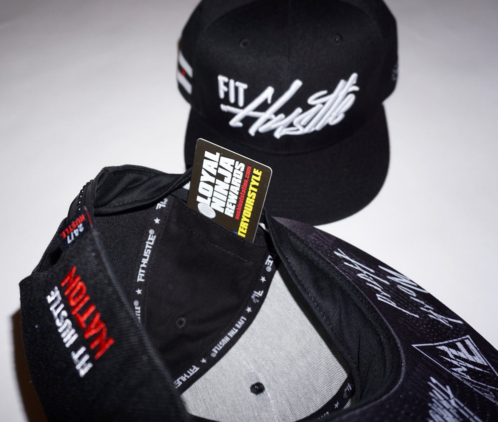 Black/White - Work Hard Stay Humble Hat