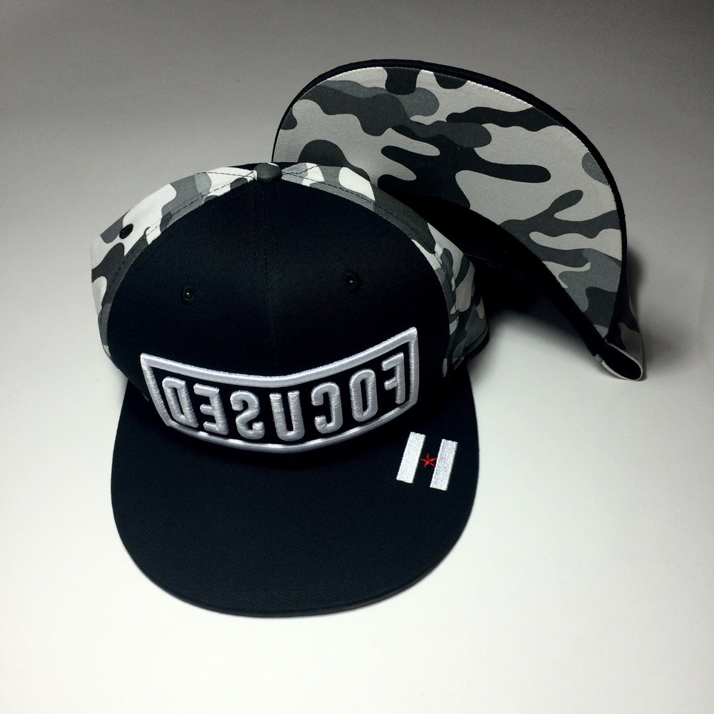"""Focused"" White Camo Hat"