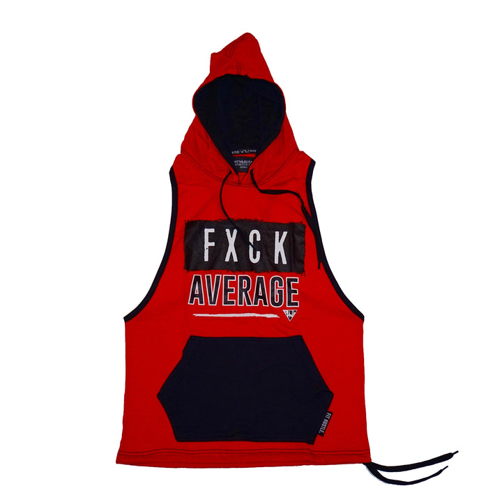 """Fxck Average"" Blk/Red Stringer Hoodie"
