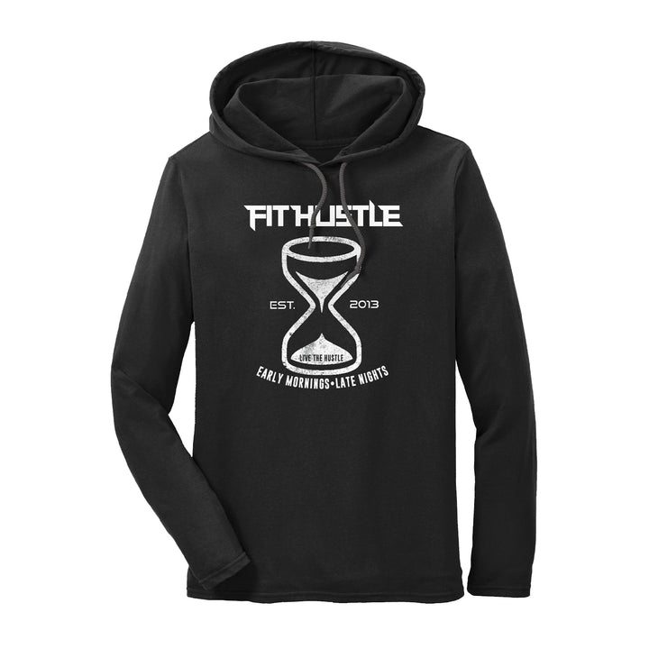 'Hustle Harder' Lightweight Hoodie Tee