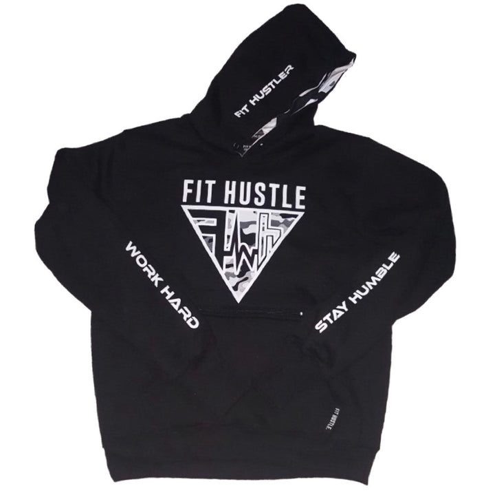 """Get ShXt Done"" White Camo FIT HUSTLER™ Pullover"