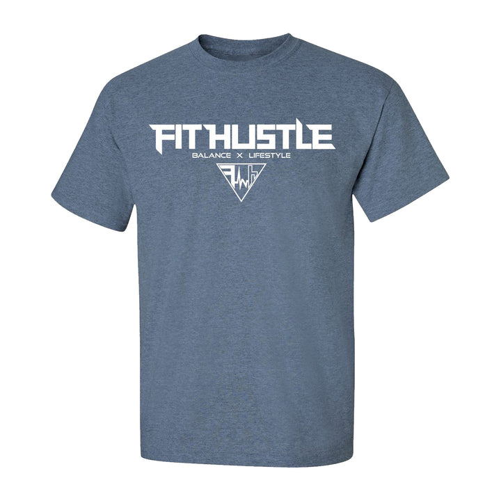 Team 'Just Hustle' Shirt - Heather Indigo