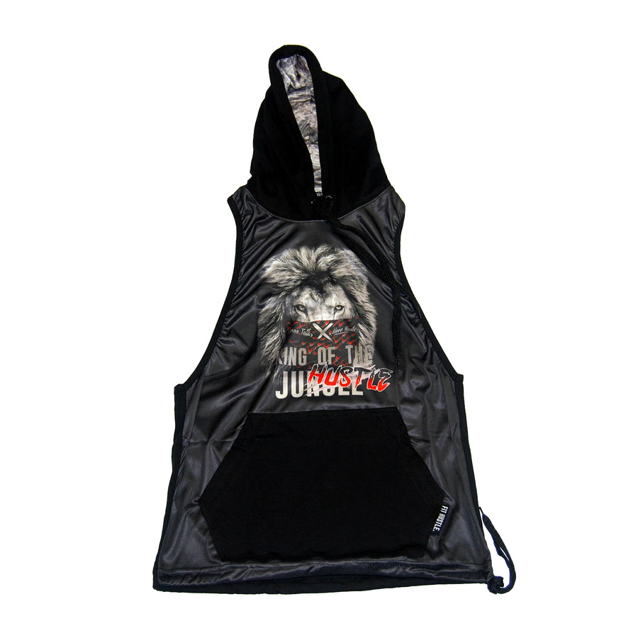 King of the Hustle Lion Stringer Hoodie