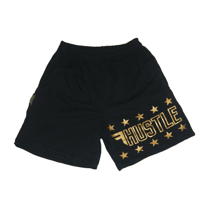 Lightweight Black and Gold Original Sweat Shorts