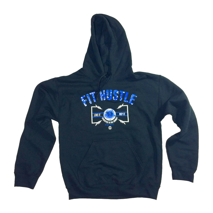 Heavyweight Hoodie - Live it X Rep it Black/Blue