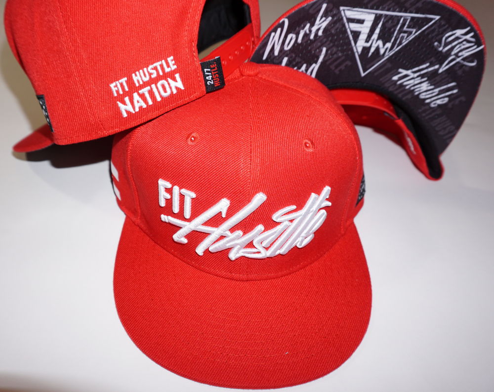 "Red and Blue ""Work Hard Stay Humble"" Hat"