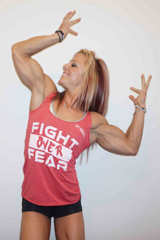Red Women's Lil Monstar Edition Fight over Fear Racerback