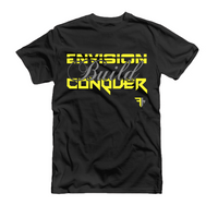 Charcoal-Envision. Build. Conquer. Unisex: Fit Hustle T-Shirt