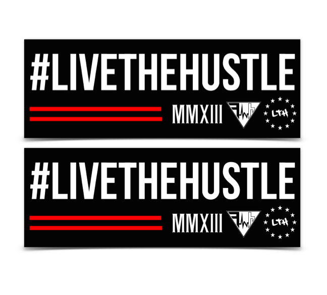 #LIVETHEHUSTLE DECAL