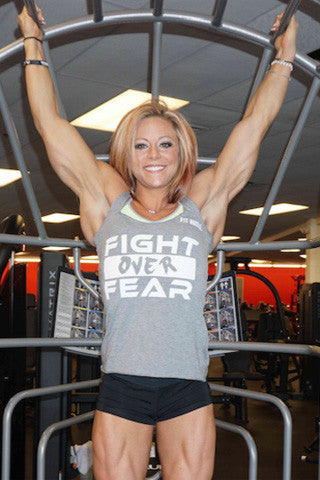 Grey Women's Lil Monstar Racerback 'Fight over Fear' Edition