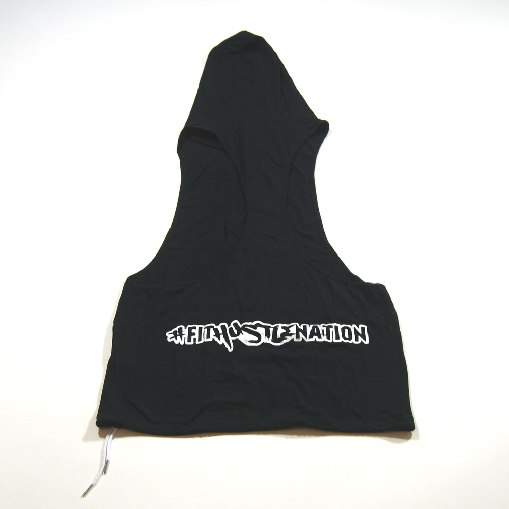 "Black ""This Is My Hustle"" Stringer Hoodie"