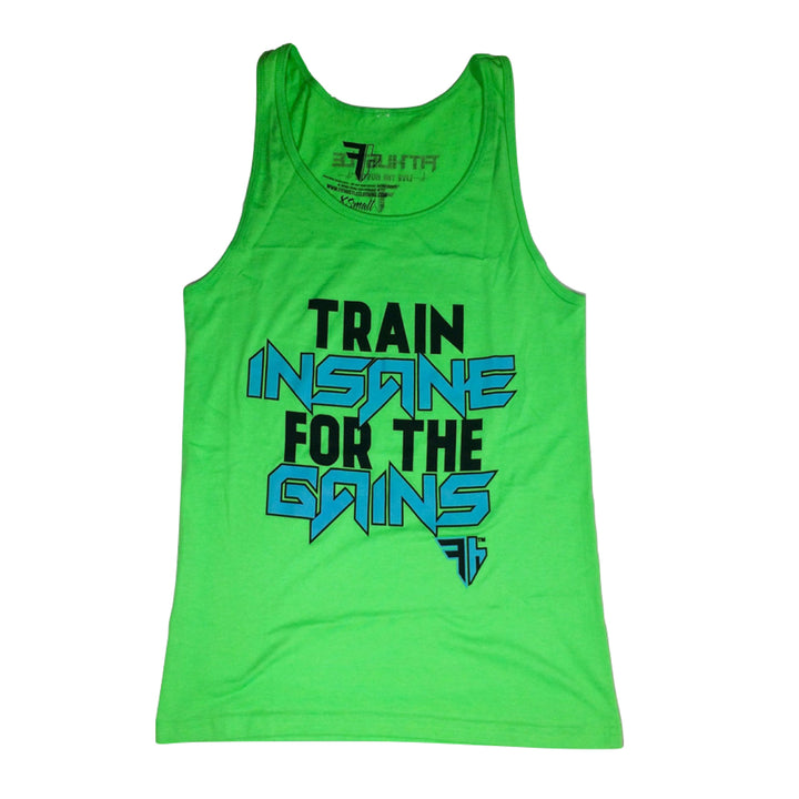 Train INSANE for the GAINS Unisex Tank Tops