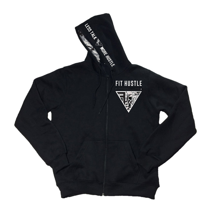 "White Camo ""Fit Hustler Checklist"" Zip-Up"